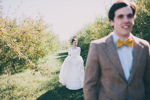 first look - bride and groom - justin battenfield