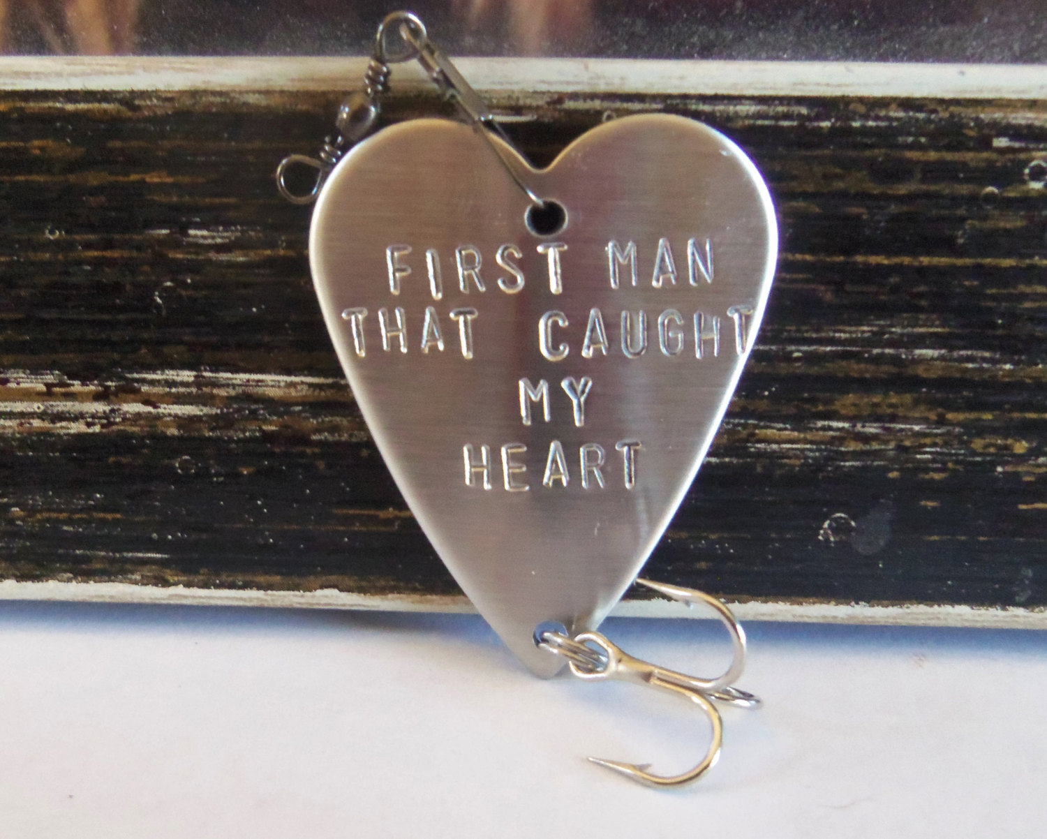 first man that caught my heart fishing lure gift idea | Custom Wedding Fishing Lure