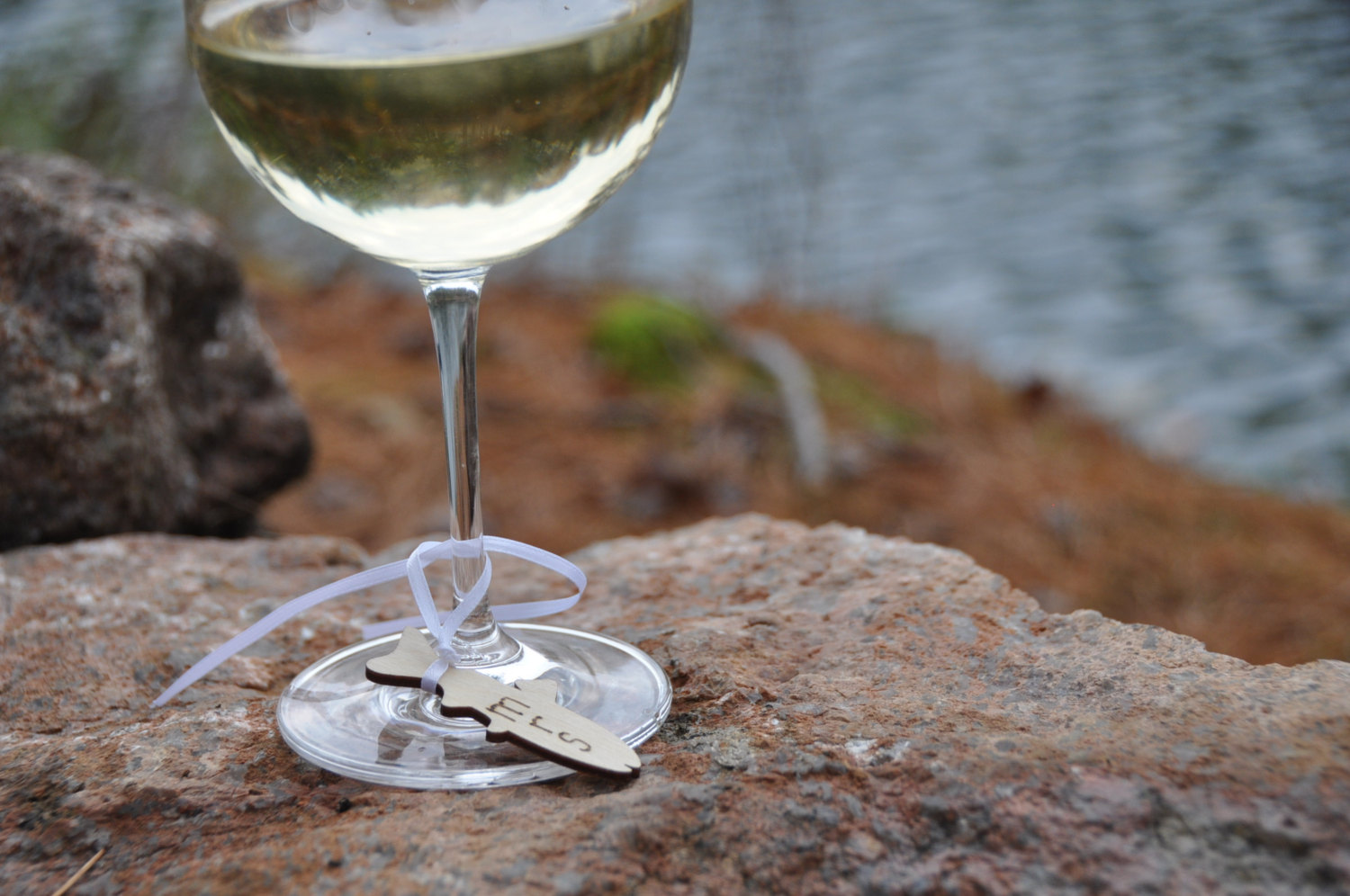 fish wine charms by lace and twig