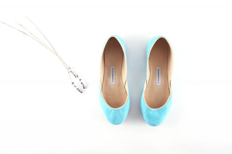flats in tiffany blue | via 31 Best Handmade Wedding Shoes https://emmalinebride.com/bride/handmade-wedding-shoes/