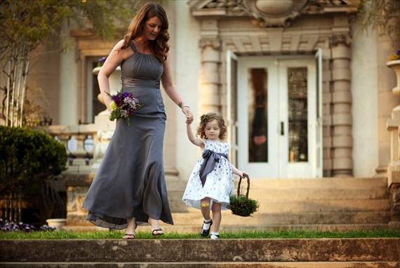 flower-girl-at-liriodendron-wedding - Liriodendron Mansion Wedding