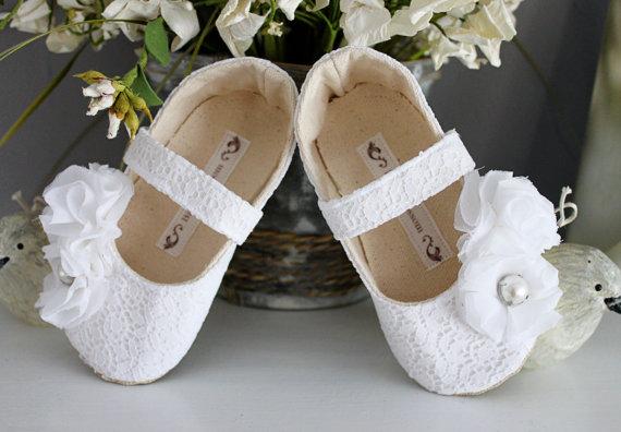 Formal Flower Girl Dress Shoes (by Bitsy Blossom) #handmade #wedding