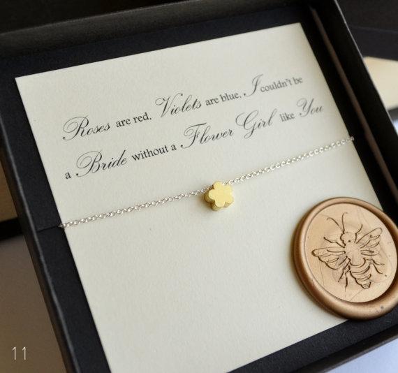 flower girl flower petal necklace - flower girl gifts