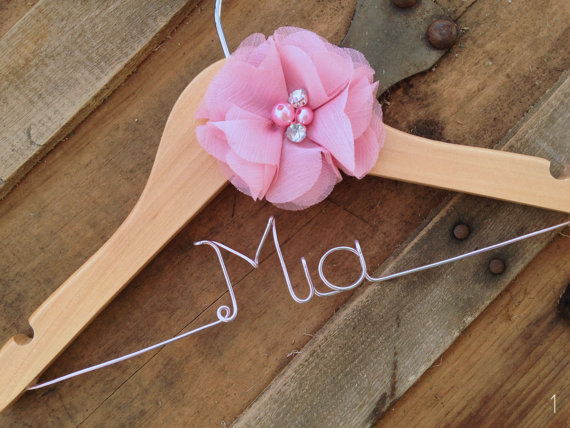 flower girl hanger - flower girl gifts