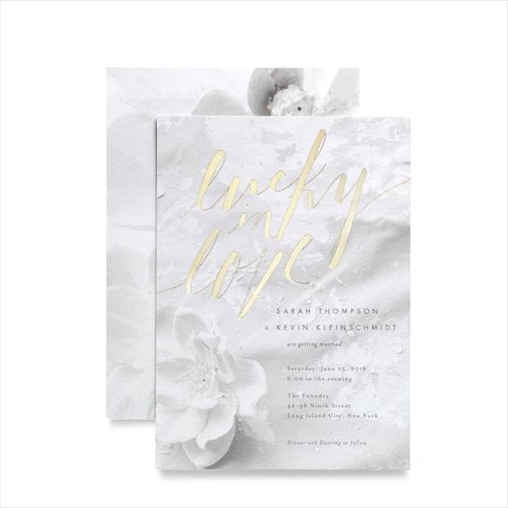 Foil Wedding Invitations