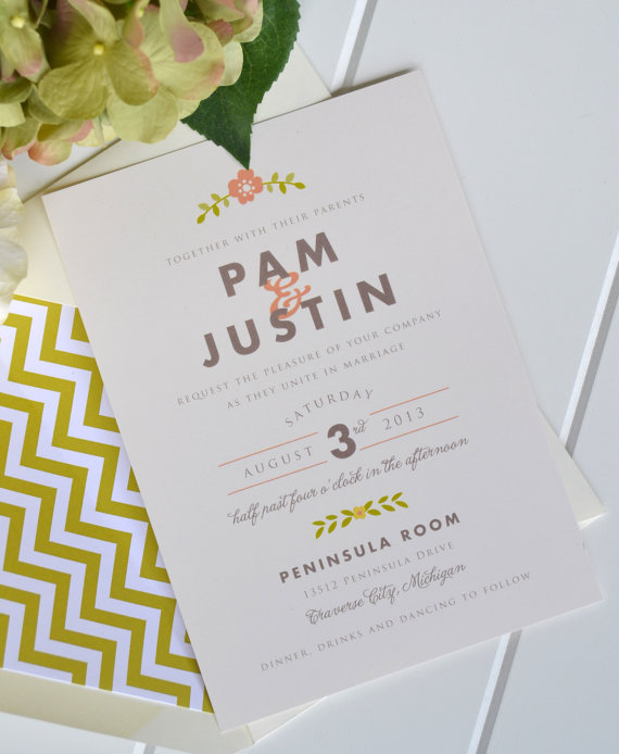 folk wedding invitations