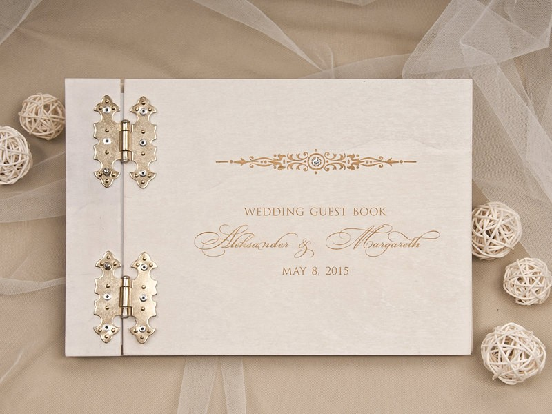formal wedding guest book by forlovepolkadots