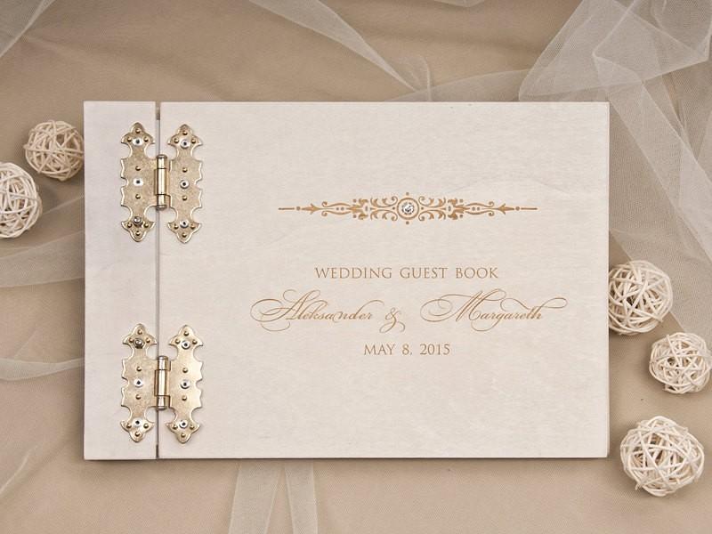 formal wedding guest book by forlovepolkadots