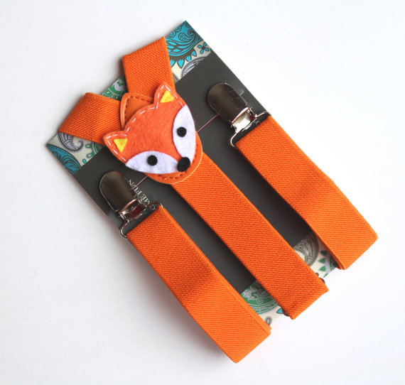 fox suspenders for ring bearer by baby what knots