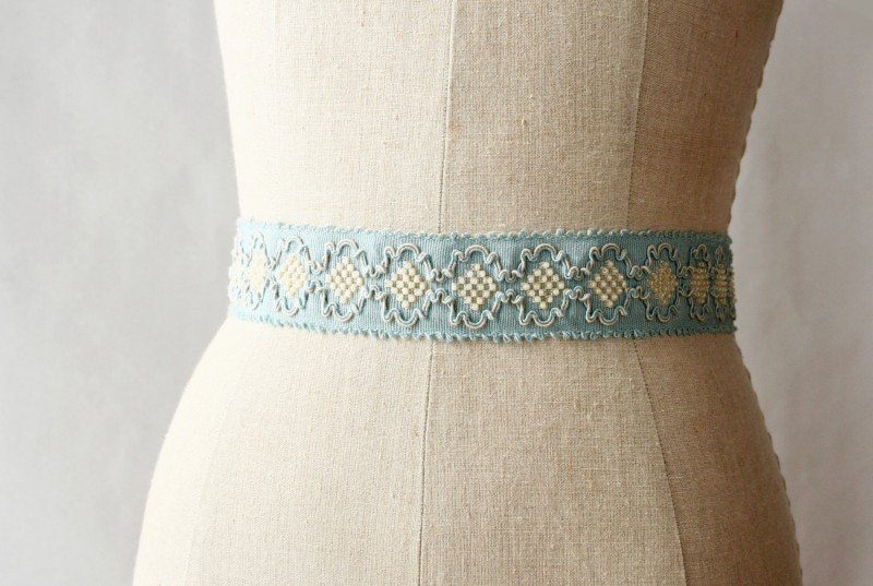 french inspired blue wedding dress sash | NEW Wedding Dress Sash Ideas via http://emmalinebride.com/bride/wedding-dress-sash-ideas/