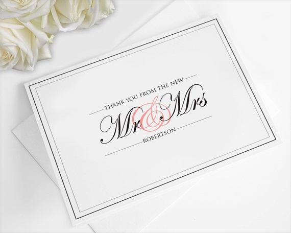 future mr and mrs thank you cards - When To Send Thank You Cards