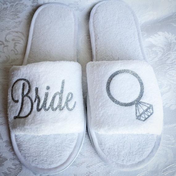 fuzzy bride slippers   bachelorette spa party http://emmalinebride.com/bachelorette/spa-party/