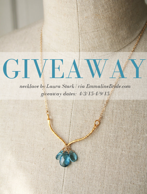 gemstone necklace | via 10 NEW Something Blue Ideas | https://emmalinebride.com/bride/new-something-blue/
