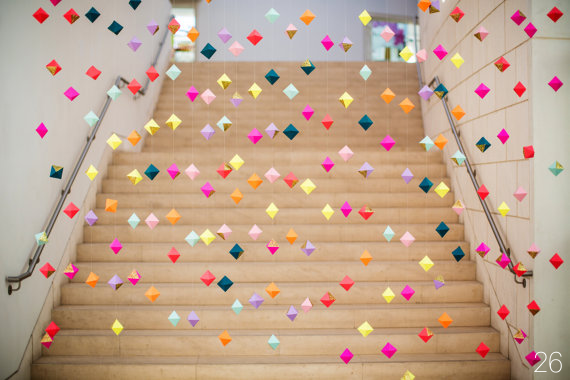 30 Amazing Geometric Wedding Ideas (via emmalinebride.com) - backdrop by french knot studios; photo by izzy hudgins photography
