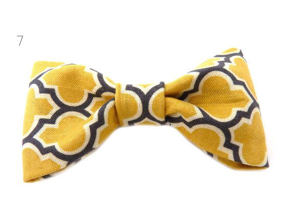 30 Amazing Geometric Wedding Ideas (via emmalinebride.com) - bow tie by zelma rose