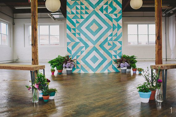 Geometric Wedding Ideas - backdrop: sarah park designs