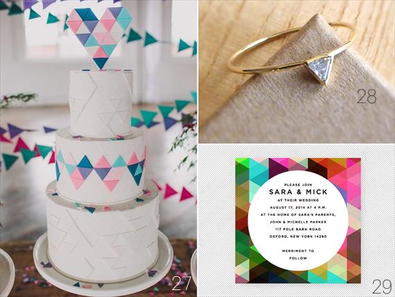 30 Amazing Geometric Wedding Ideas (via emmalinebride.com)