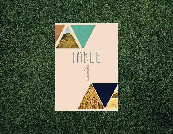 geometric table numbers | 9 Modern Geometric Wedding Details