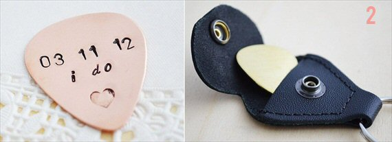 Gifts for the Groom He'll Actually Use (via EmmalineBride.com) - Custom Guitar Pick by Her Silver Lining