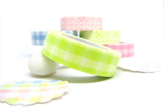 gingham washi tape via DIY Washi Tape Ideas