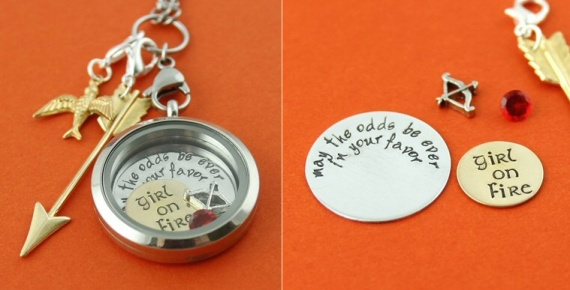 girl on fire hunger games locket | Offbeat Wedding Theme:  Floating Lockets