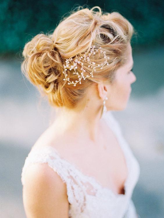 glass bead headpiece via 15 Stunning Wedding Veil Alternatives
