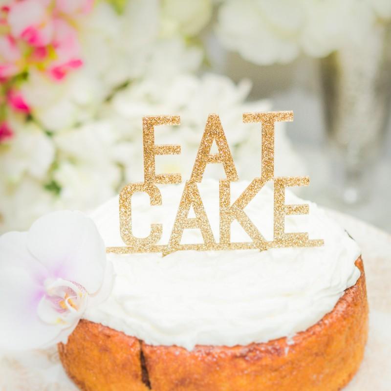 glittery eat cake