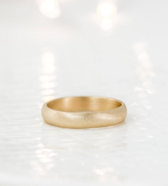 gold band | handmade wedding bands | http://emmalinebride.com/jewelry/handmade-wedding-bands/