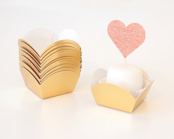gold foil dessert cups