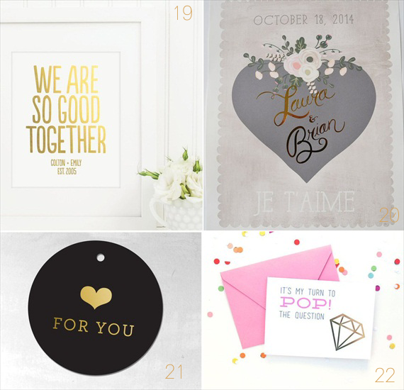 30 Best Gold Foil Ideas for Weddings EmmalineBride.com