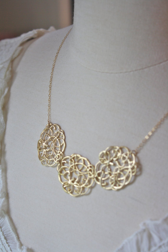 Gold Lace Necklace