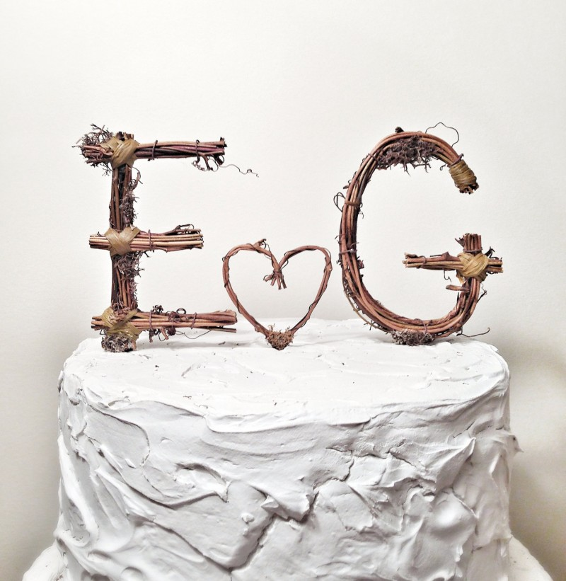 grapevine cake topper by the original twig