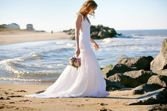 grazia gown with lace