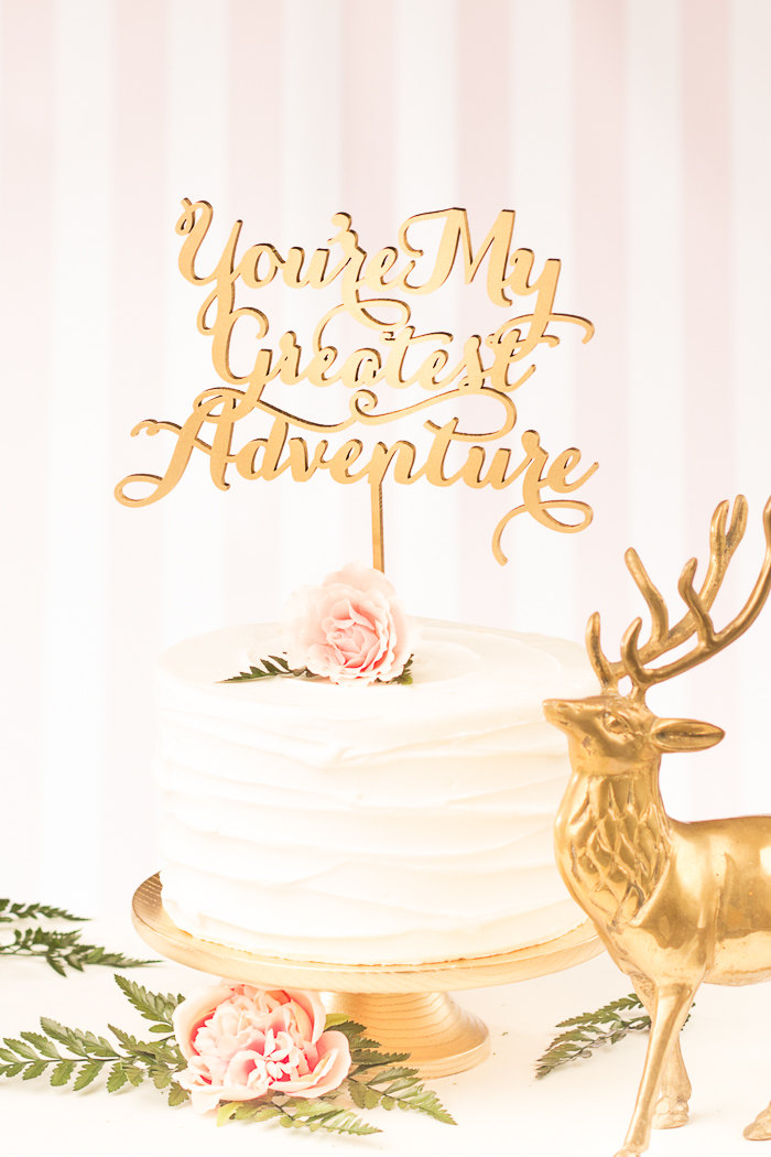 greatest adventure cake topper