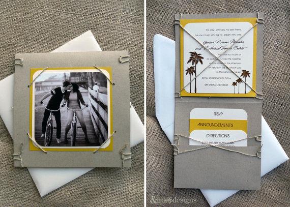 Eco Wedding Ideas - green eco friendly #wedding invitations by ampersand ink