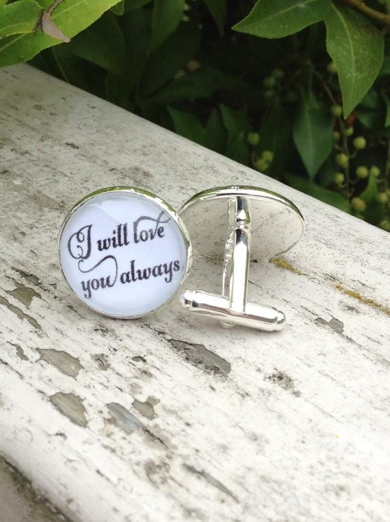 groom cufflinks - i will love you always