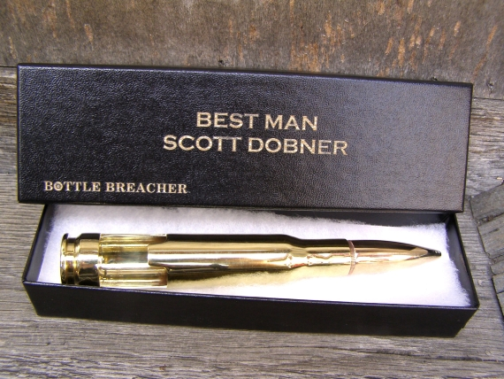 Groomsmen Bottle Opener (by Bottle Breacher)