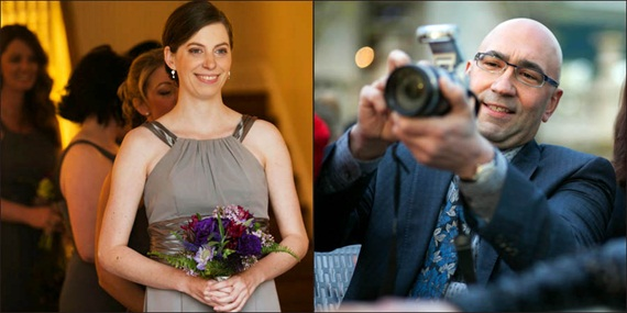 guest takes photo of bridesmaid - Liriodendron Mansion Wedding