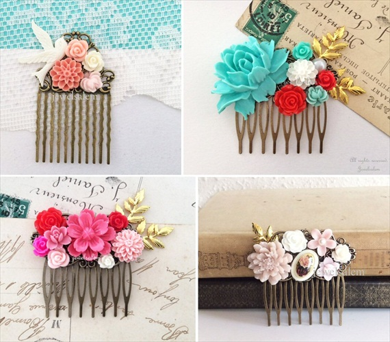 vintage inspired hair comb
