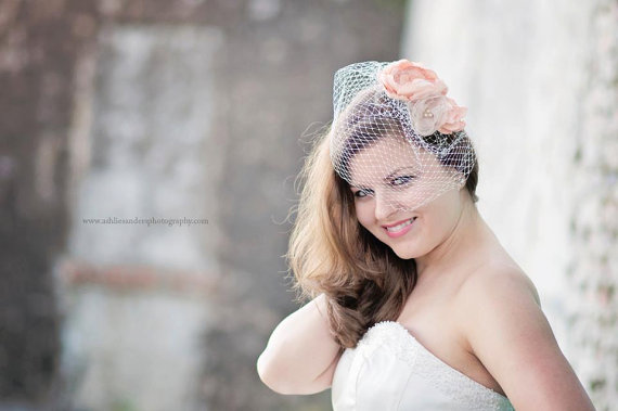 How to Wear a Birdcage Veil with Hair Down Hairstyles (veil by brown eyed girls boutique)