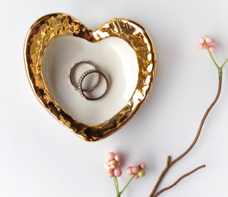 hammered gold ring dish