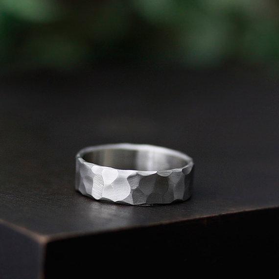 hammered handmade wedding ring | handmade wedding bands | http://emmalinebride.com/jewelry/handmade-wedding-bands/