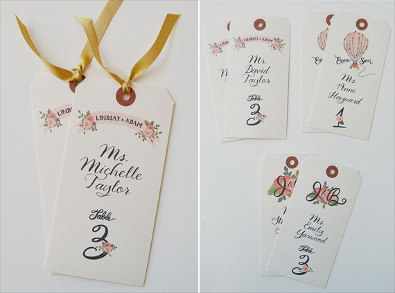 Handpainted Escort Cards