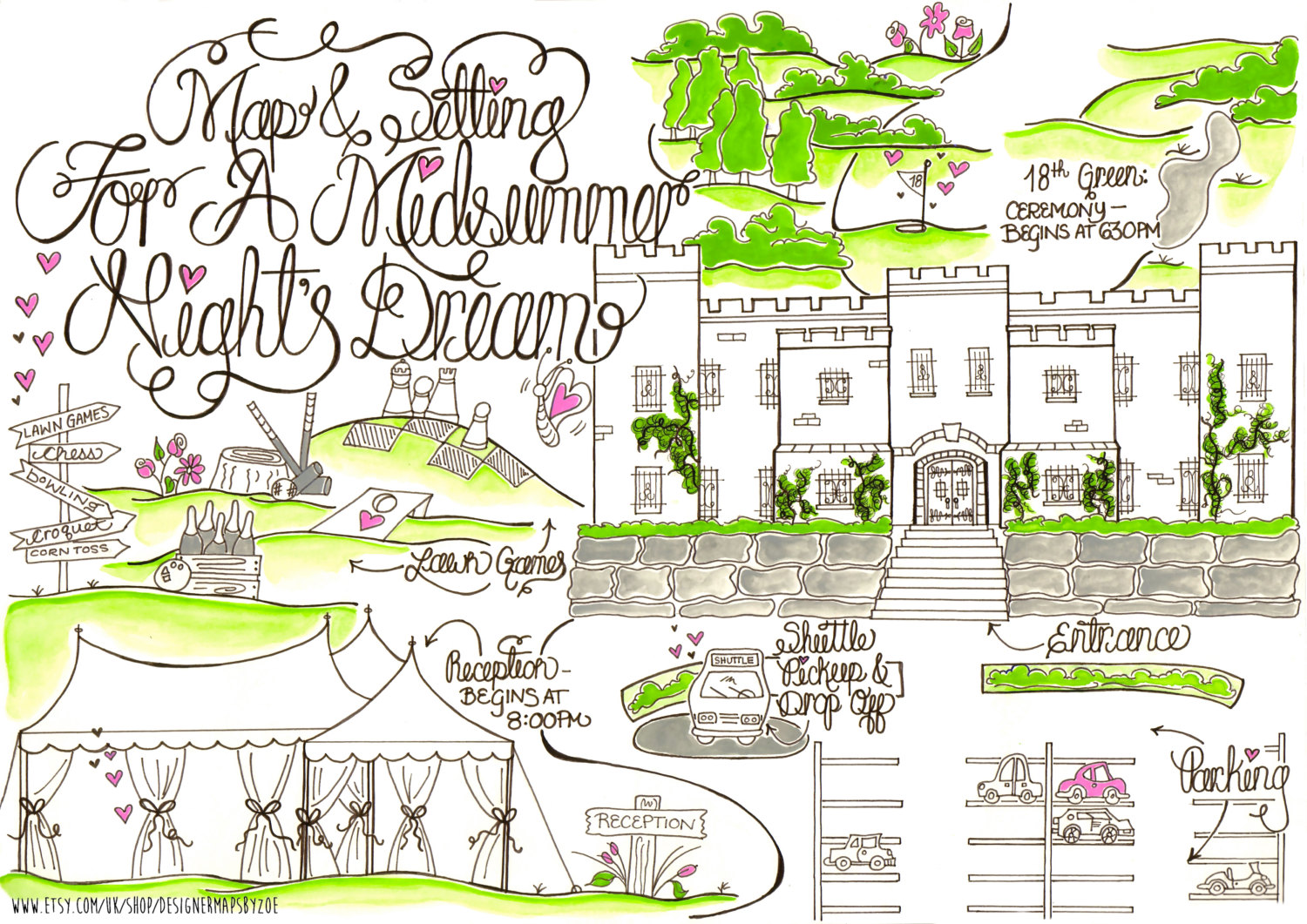 wedding map for guests via https://emmalinebride.com/planning/wedding-map-for-guests/