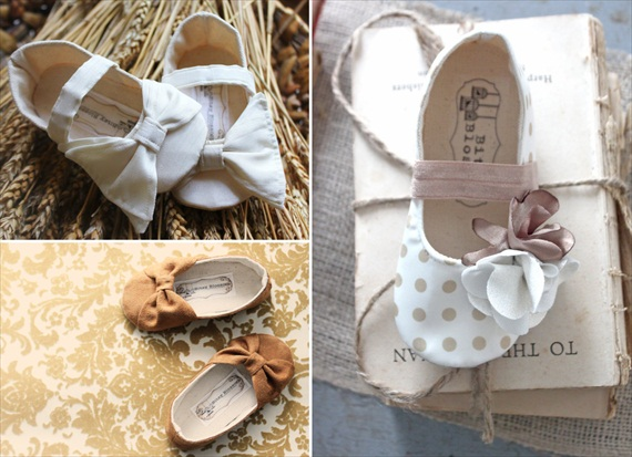 handmade wedding flower girl shoes