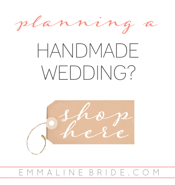handmade wedding shop | EmmalineBride.com
