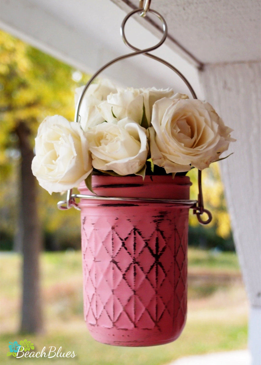 hanging mason jar | mason jar ideas weddings