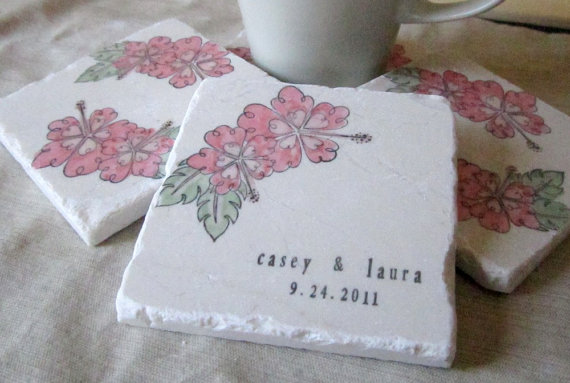 Coaster Favors for your Wedding (by My Little Chickadee Creations)