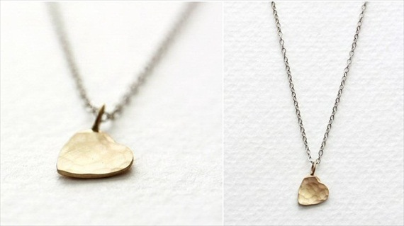 heart charm necklace without gemstone