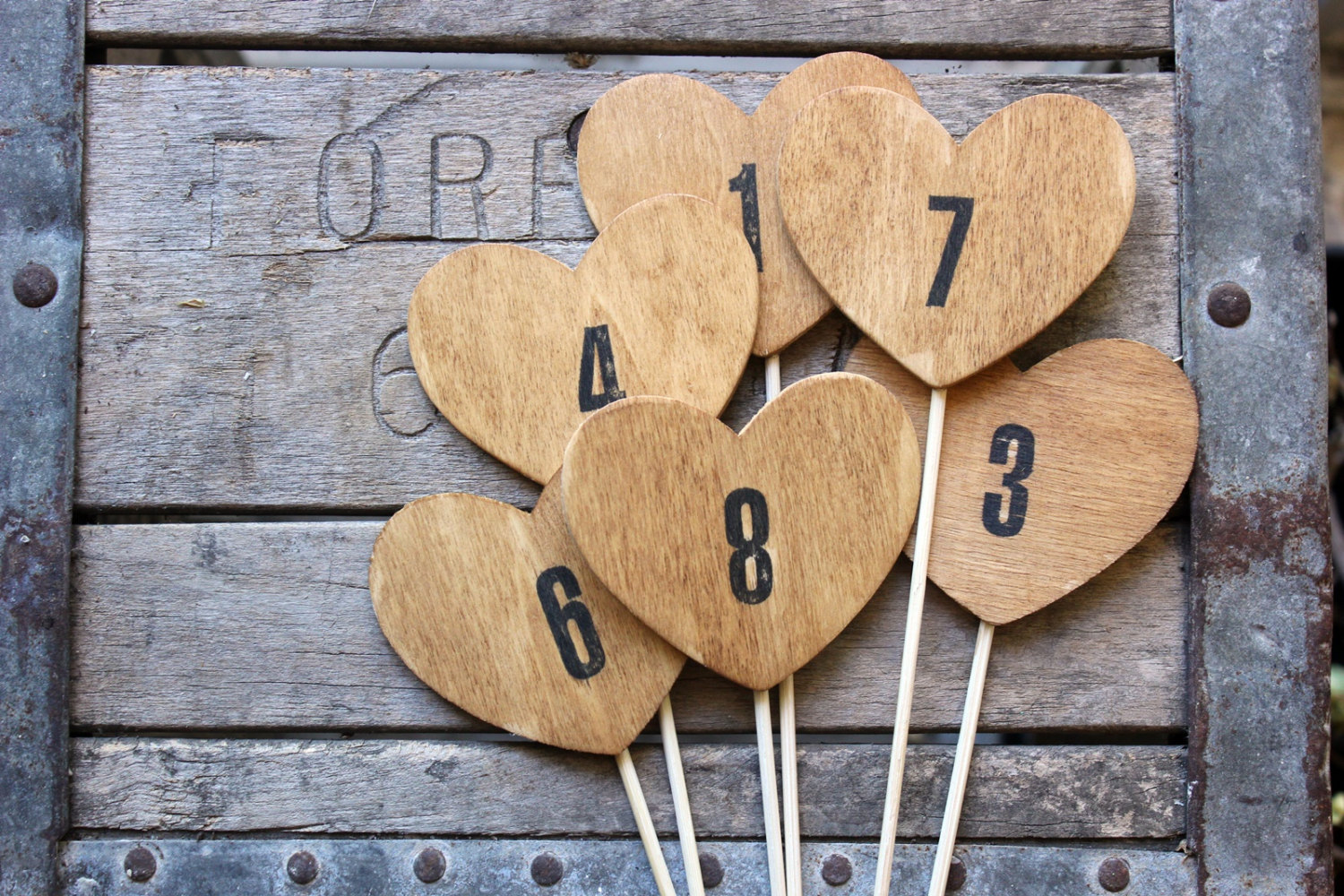 heart table numbers
